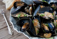 Trinity Bay Steamed Mussels In Beer, Cream and Garlic Sauce