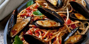 Badger Bay Mussels with Linguini